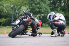 Motorcycle Training Course : Leaning Training Perfection, Germany