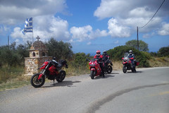 Trip/Tour: Greece incl. motorbike transport, flight, hotel